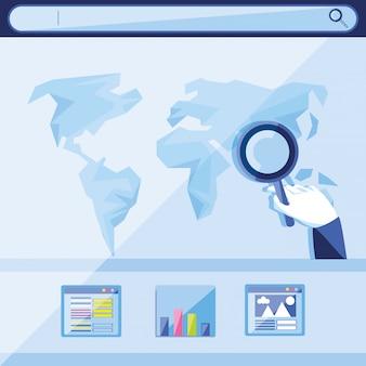 Ottimizzazione dei motori di ricerca con il pianeta mondo