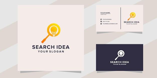 Modello di logo dell'idea di ricerca
