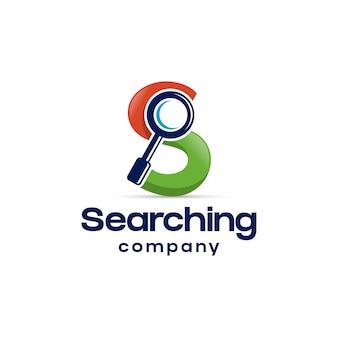 Cerca lente d'ingrandimento s lettera logo design
