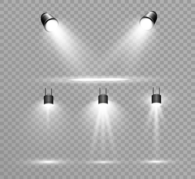 Collezione searchlight per illuminazione scenica, effetti di luce trasparente. bella illuminazione brillante con faretti.