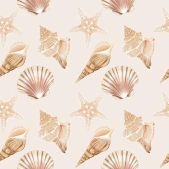 Seamless pattern di conchiglie