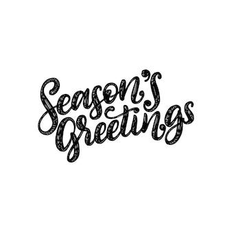 Auguri di buone stagioni, scritte a mano su sfondo rosso. natale.