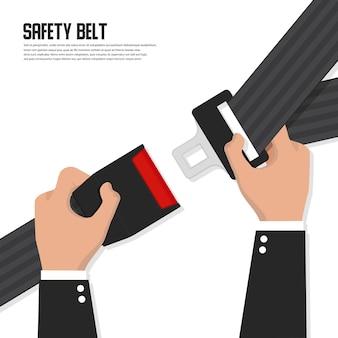 Illustrazione della cintura di sicurezza