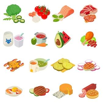 Set di icone seconda colazione