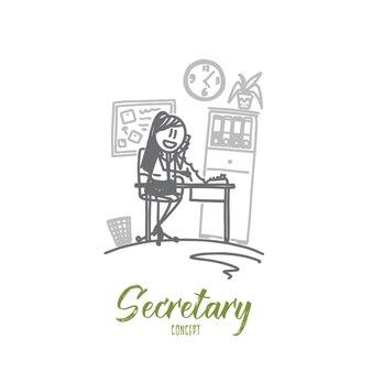Illustrazione di concetto di segretario
