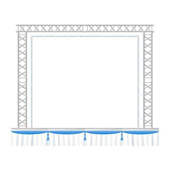 Palcoscenico per concerti prefabbricato in metallo con banner