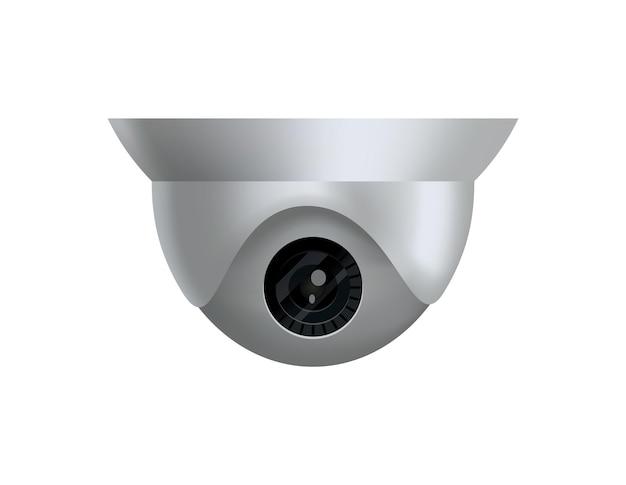 Telecamera di sicurezza. telecamera di sorveglianza decorativa. sistema di protezione domestica di sicurezza. illustrazione del cctv e segno della fotocamera.