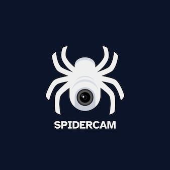 Telecamera di sicurezza e design del logo del ragno