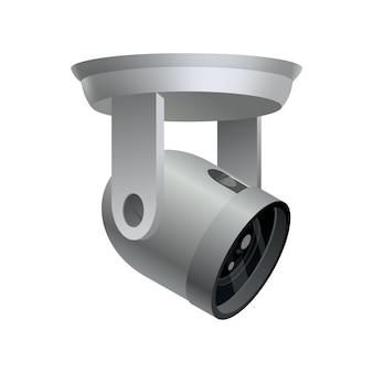 Videocamera di sicurezza su bianco