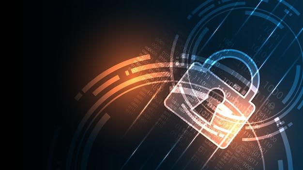 Concetto digitale cyber di sicurezza sfondo tecnologia astratta
