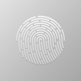 Autenticazione delle impronte digitali di sicurezza. identità del dito, illustrazione biometrica della tecnologia. modello di impronte digitali.