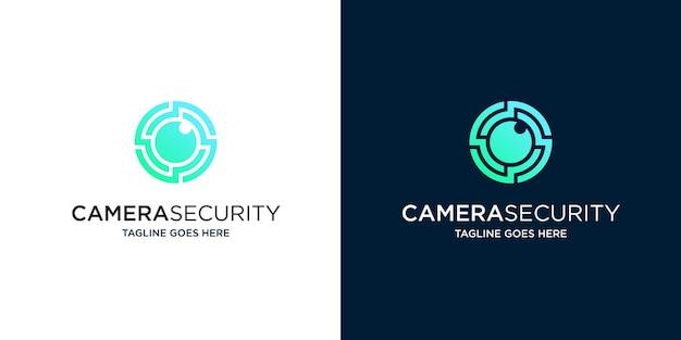 Logo di sicurezza con fotocamera isolata