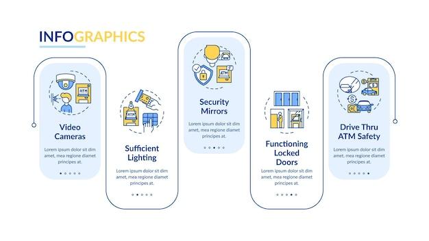 Modello di infografica di specchi di sicurezza
