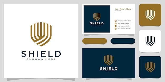 Design del logo dello scudo di sicurezza