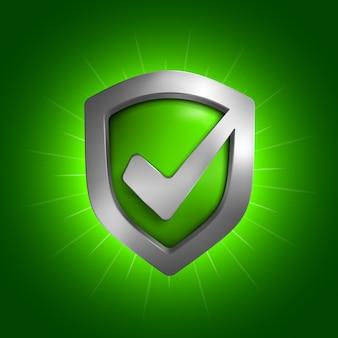 Simbolo dello scudo di sicurezza. illustrazione isolato su sfondo.