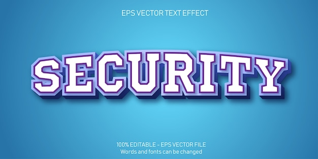 Illustrazione del testo di sicurezza in design piatto
