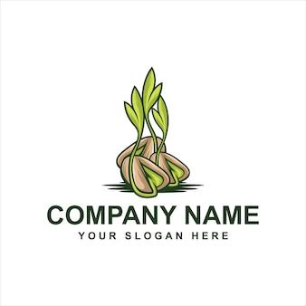 Logo di germogli di semi