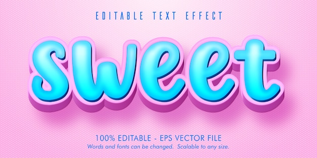Seet testo, effetto di testo modificabile in stile cartone animato