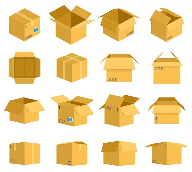 Selezione di scatole di cartone