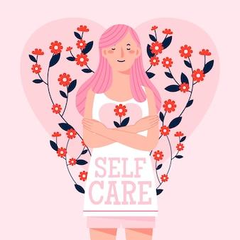 Illustrazione di concetto di cura di sé