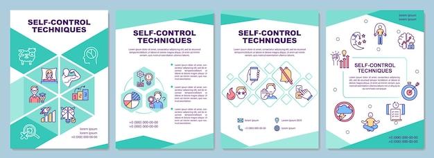 Modello di brochure sulle tecniche di autocontrollo