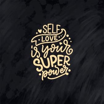 Preventivo lettering per auto-cura per blog o vendita. tempo per qualcosa di carino. bellezza, cura del corpo