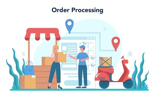Illustrazione di concetto del venditore