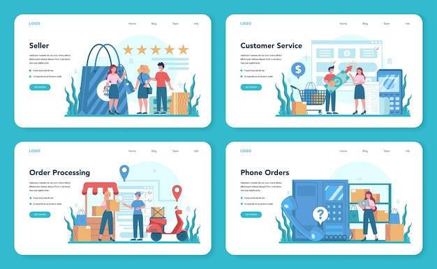 Banner web del venditore o set di pagine di destinazione