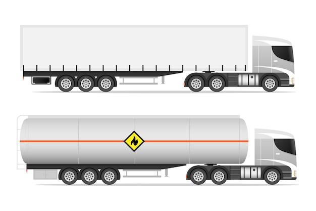 Illustrazione stabilita del camion del rimorchio dei semi