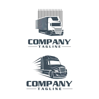 Semi truck logo set progetta logo template vector