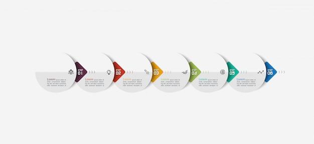 Infografica freccia semicerchio