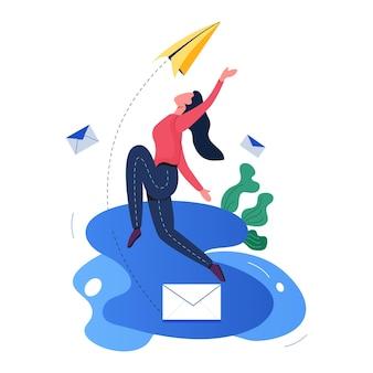 Invia un kit di illustrazione per e-mail