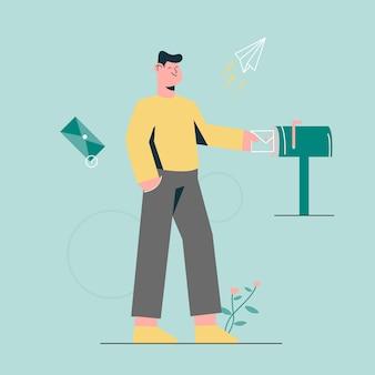 Invia un messaggio per un amico nella casella di posta