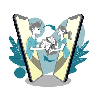 Invio e ricezione di file audiovisivi o immagini