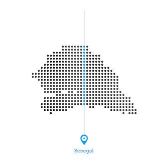Senegal doted map design vettoriale