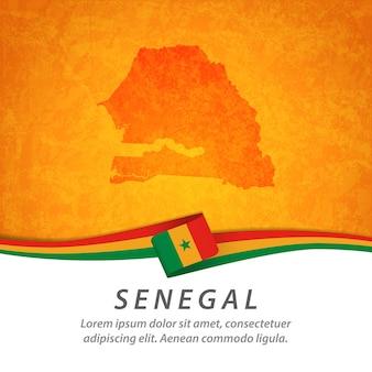Bandiera del senegal con mappa centrale