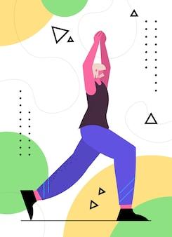 Donna anziana che fa squat sportiva di età compresa tra allenamento in palestra allenamento aerobico stile di vita sano vecchiaia attiva