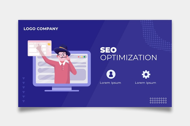Seo banner template design