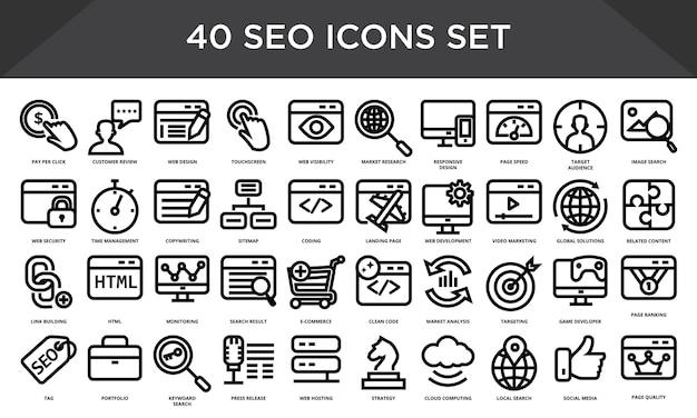 Set di icone seo