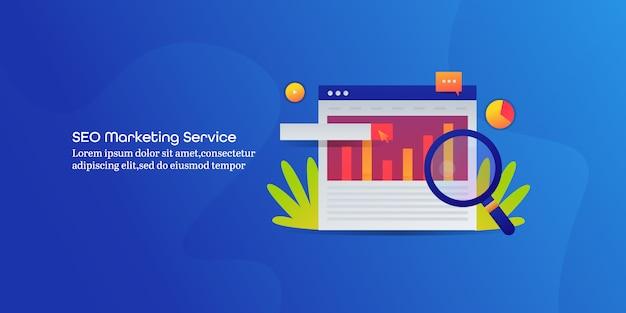Banner di servizio di marketing seo