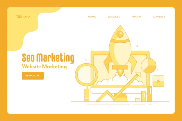 Pagina di destinazione della strategia di marketing seo