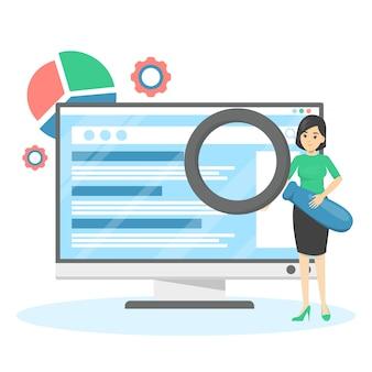 Seo o concetto di ottimizzazione dei motori di ricerca. strategia di marketing