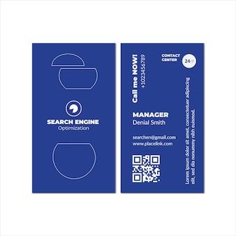 Modello di biglietto da visita con contenuto virtuale seo