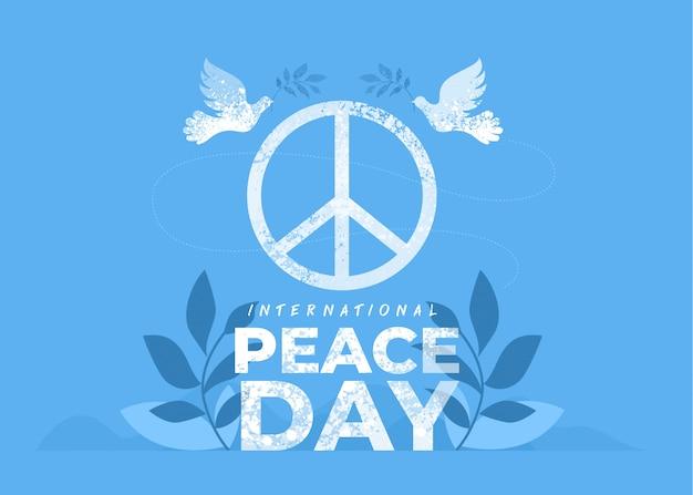 Settembre giornata internazionale della pace Vettore Premium