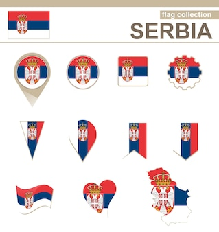 Serbia flag collection, 12 versioni