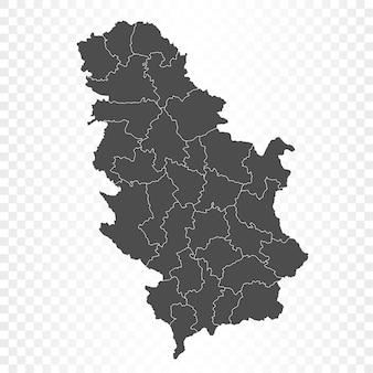 Rendering isolato mappa serbia