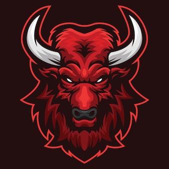 Serious bull esport logo illustrazione