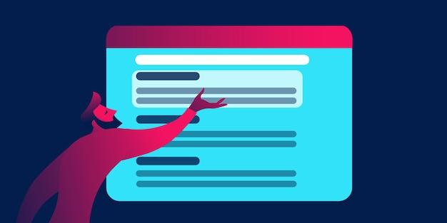 Serp motore di ricerca pagina di ricerca seo business concept