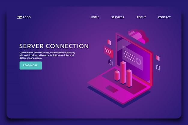 Modello di pagina di destinazione della connessione al server