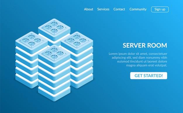Pagina di destinazione dell'apparecchiatura del server